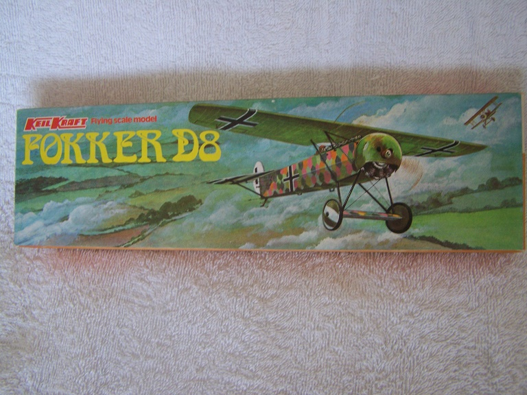 KeilKraft Fokker D-8 flying scale model airoplane kit Millington