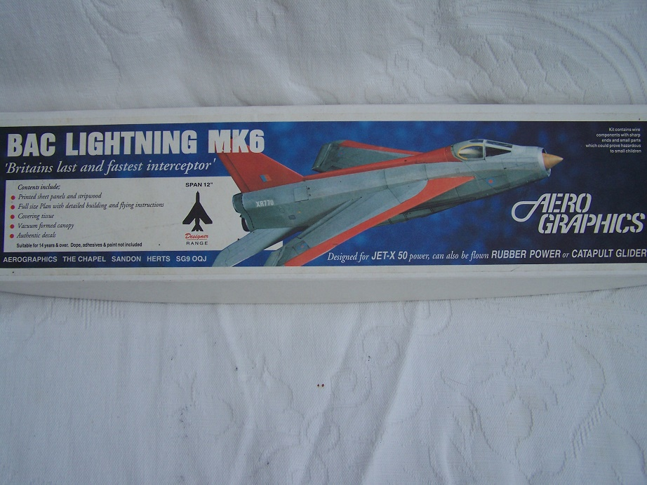 Aero Graphics Lightning early kit for Jetex.