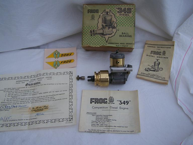 FROG 349 MARINE BOXED MODEL BOAT DIESEL ENGINE