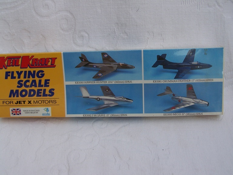 Keil Kraft Hawker Hunter model kit.