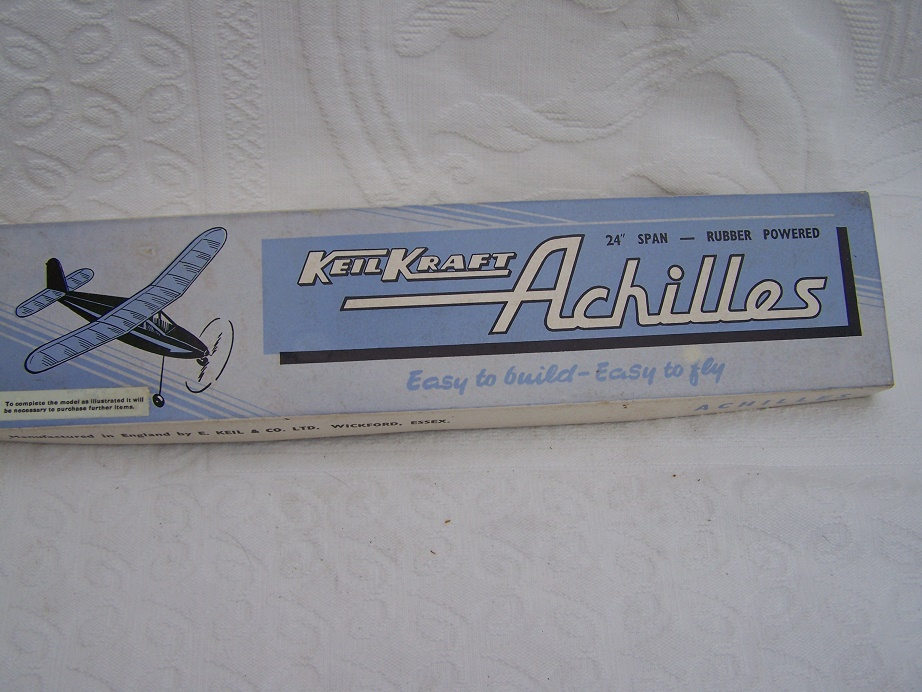 "KeilKreft Achilles 24"" rubber powered model kit."