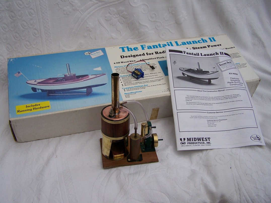 Midwest Fantail Launch kit with Steam Engine.
