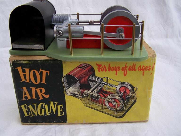 Davis Charlton model hot air engine with original box