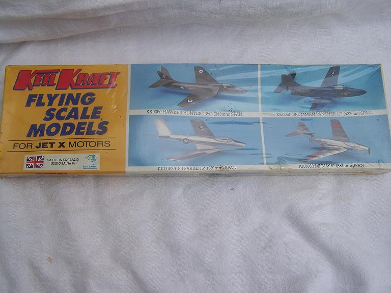 Keil Kraft  Mig Jetex powered model kit