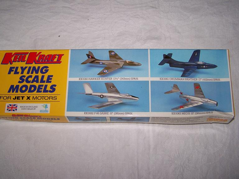 Keil Kraft SABRE flying scale model aeroplane kit for jetex