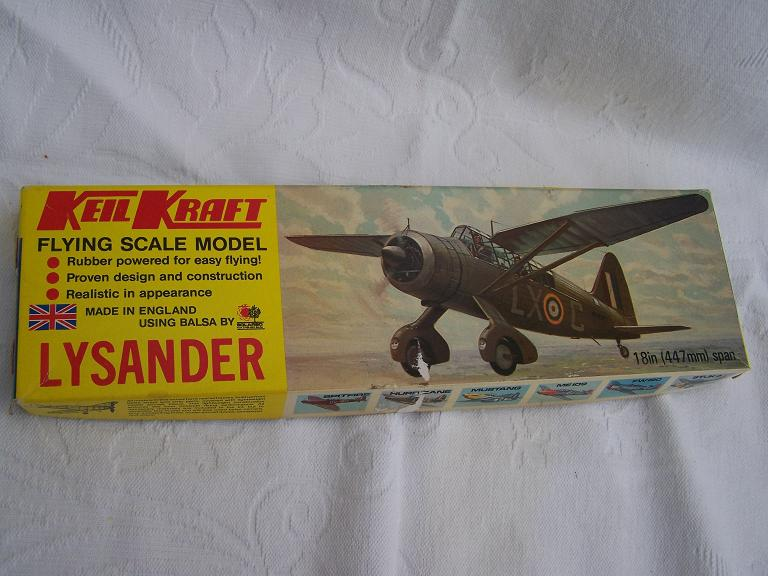 KEIL KRAFT LYSANDER flying scale model airoplane kit
