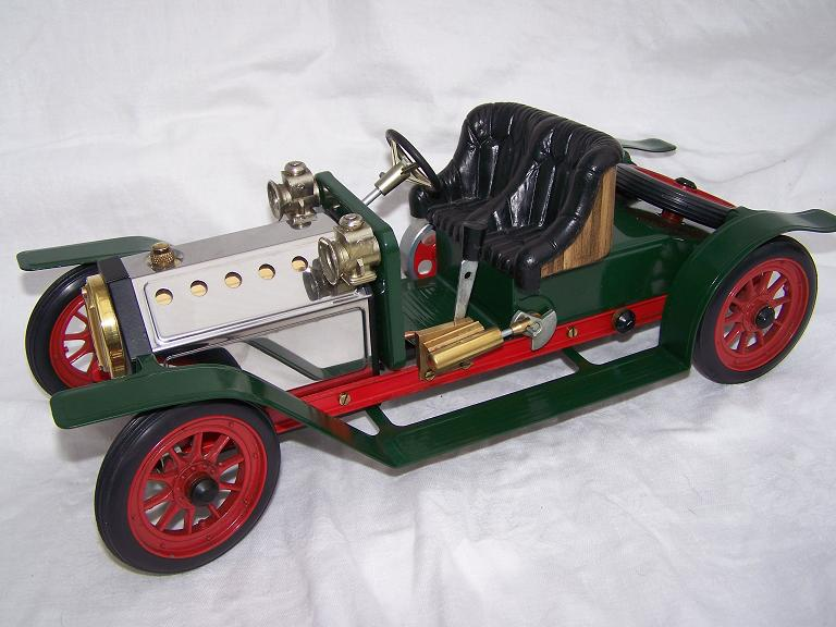 Mamod Roadster steam car in green