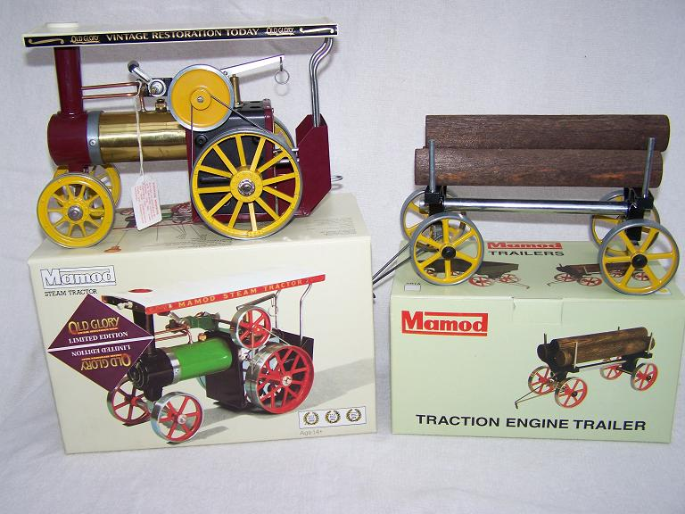 Mamod Old Glory limited edition model steam engine and trailer b