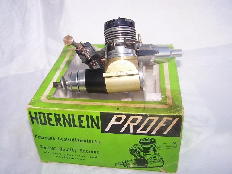 Profi 3.5cc glow plug engine with box and silencer