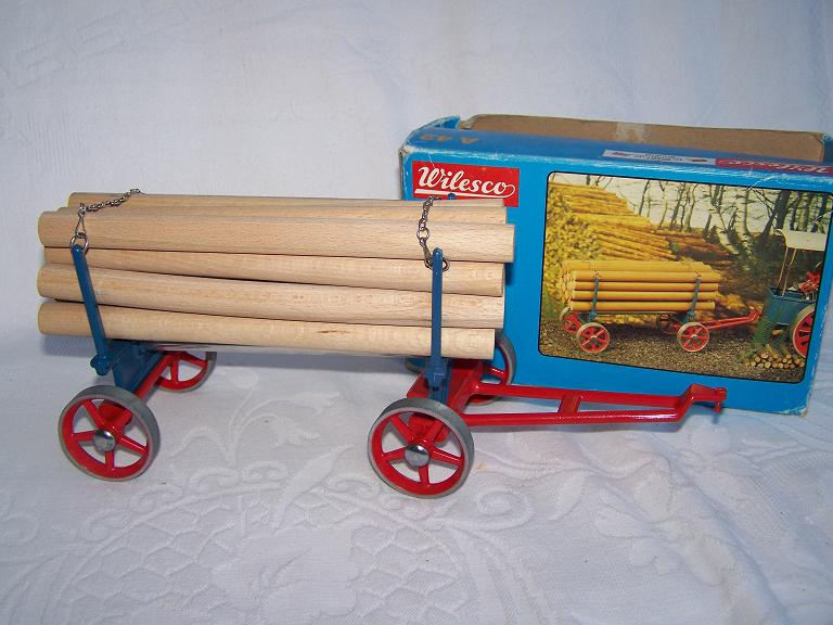 Wilesco D45 Log Wagon with box